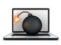 Laptop error Stock Photography