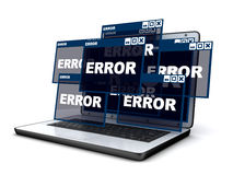 Laptop and error Stock Images
