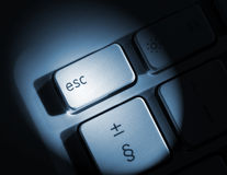 Laptop escape key Stock Photos