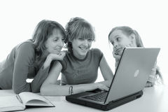 Laptop for family Stock Photography
