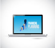 Laptop financial planning illustration design. Over a white background Stock Image