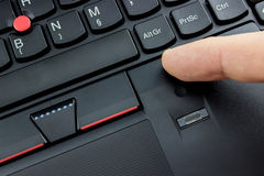 Laptop fingerprint reader Royalty Free Stock Images