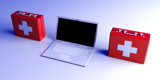 Laptop First aid Royalty Free Stock Photo