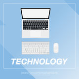 Laptop flat  illustration. Royalty Free Stock Photo