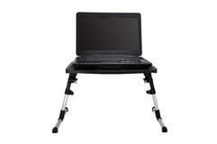 Laptop on  folding table Royalty Free Stock Photography