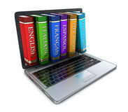 Laptop and foreign language Stock Image
