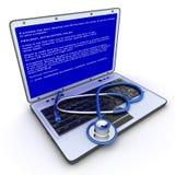 Laptop fout royalty-vrije illustratie