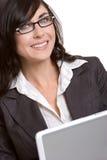Laptop-Frau lizenzfreies stockfoto
