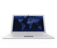 Laptop front view Royalty Free Stock Images