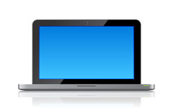 Laptop front view with copyspace Royalty Free Stock Image