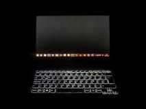 Laptop Front View High Contrast Foto Lizenzfreie Stockfotografie