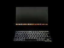 Laptop Front View High Contrast Photo Royalty Free Stock Photography