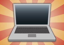 Laptop front view Royalty Free Stock Photo