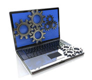 Laptop gears Stock Images
