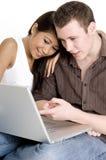 Laptop Gebruikers Royalty-vrije Stock Fotografie