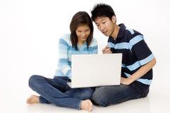 Laptop Gebruikers stock fotografie