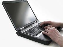 Laptop gegevensverwerking royalty-vrije stock foto