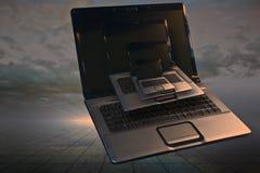 Laptop generations Stock Photos