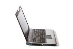 Laptop getrennt auf Weiß Stockbild
