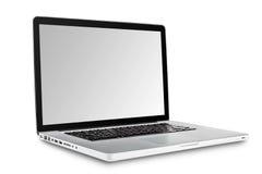 Laptop getrennt auf weißem Hintergrund Lizenzfreie Stockfotos