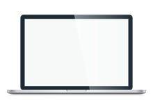 Laptop getrennt auf weißem Hintergrund Stockbild