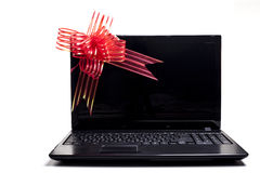 Laptop Gift Royalty Free Stock Photography