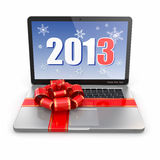 Laptop gift. Royalty Free Stock Images
