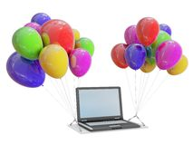 Laptop gift Royalty Free Stock Image