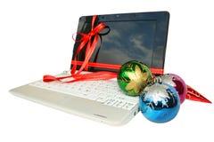Laptop gift Royalty Free Stock Photos