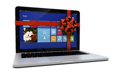 Laptop gift Royalty Free Stock Images