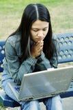 Laptop girl Stock Photos