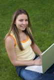 Laptop Girl Royalty Free Stock Images
