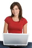 Laptop Girl Royalty Free Stock Photography