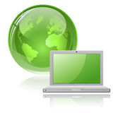 Laptop and Globe Royalty Free Stock Photo
