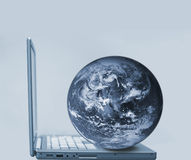 LAPTOP GLOBE Royalty Free Stock Image