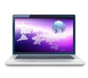 Laptop and Globe Royalty Free Stock Photo