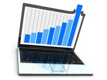 Laptop and good statistic Stock Photo