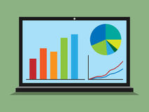 Free Laptop, Graphs, Diagrams, Statistics Royalty Free Stock Image - 63871276