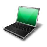 Laptop, groen Notitieboekje Royalty-vrije Stock Foto