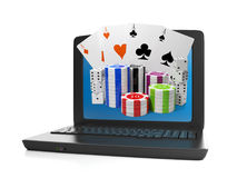 Laptop and a group of Royalty Free Stock Image