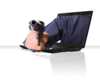 Laptop Gun Royalty Free Stock Images