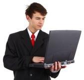 Laptop guy Royalty Free Stock Photo