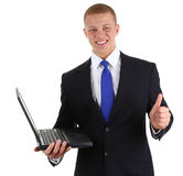 Laptop guy Royalty Free Stock Image