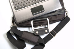 Laptop and handbag Royalty Free Stock Images