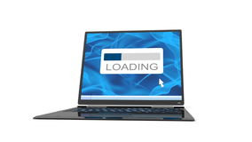 Laptop has broken down when loading is finished Royalty Free Stock Images