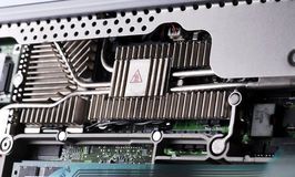Laptop Heat-sinks. Object Shot - Laptop Heat-sinks. Great as technology background. Intentional selective focus stock photos