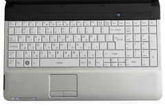 Laptop-hebräische Tastatur mit Ausdrücken Lizenzfreie Stockbilder