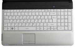 Laptop Hebreeuws Toetsenbord met Uitdrukkingen Royalty-vrije Stock Afbeeldingen