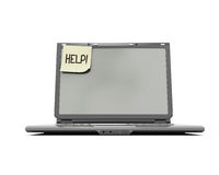 Laptop help Stock Photo