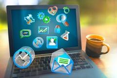 Laptop het concept van Softwareprogramma's Stock Fotografie